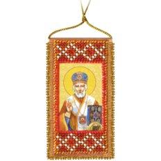 Набор для вышивки бисером Молитва Николаю Чудотворцу (украинский текст молитвы)