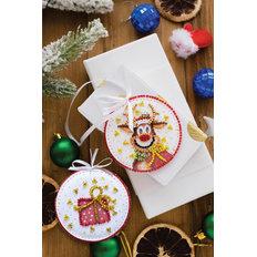 фото: новогодняя игрушка для вышивки бисером на холсте, Новогодний гость