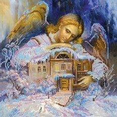 Схема для вышивки бисером В объятиях ангела