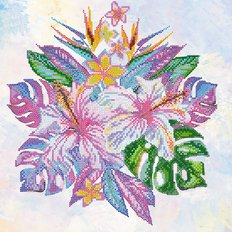 Схема для вышивки бисером Тропические цветы