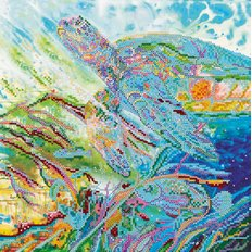 фото: картина для вышивки бисером морская черепаха