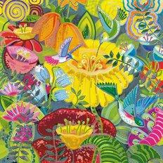 фото: картина для вышивки бисером тропические цветы