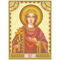 Схема для вышивки бисером Святая Ирина