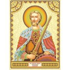 Схема для вышивки бисером Святой Александр
