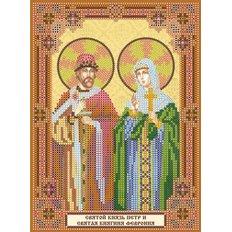 Схема для вышивки бисером «Святой князь Петр и святая княгиня Феврония»