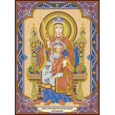 Схема для вышивки бисером «Богородица «Державная»