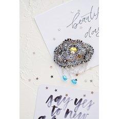 фото: украшение, вышитое бисером, Серебряные нити