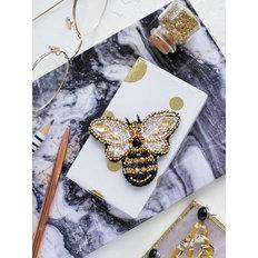 фото: украшение, вышитое бисером, Золотая пчелка