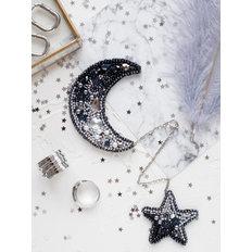 фото: украшение, вышитое бисером, Луна