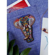 фото: вышитое бисером украшение Паттернхолст Чудо Индии-А