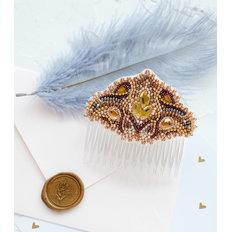 фото: украшение для волос, вышитое бисером, Скандинавский мотив