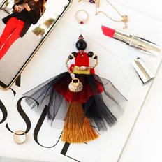 фото: украшение куколка-подвеска Роскошный рубин