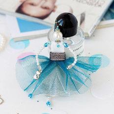 фото: украшение куколка-подвеска Нежная бирюза