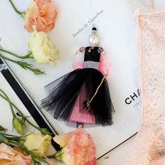фото: украшение куколка-подвеска Розовый зефир