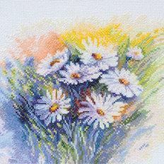 фото: картина для вышивки крестом, Акварельные ромашки