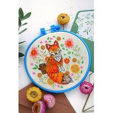 фото: картина для вышивки крестиком на декоративных пяльцах, Лисичка