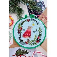 фото: картина для вышивки крестиком на декоративных пяльцах, Первая звезда