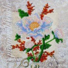 Набор для вышивки бисером Белый цветок