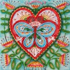 Набор для вышивки бисером Летнее сердечко