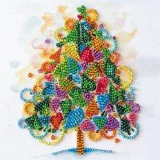 фото: картина для вышивки бисером, новый год, новогодняя елка, ёлка