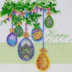 фото: картина, вышитая бисером, Праздник Пасхи