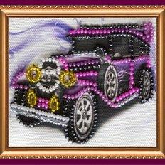 Набор для вышивки бисером магнит Ретро авто