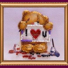 Набор для вышивки бисером магнит С Днем влюбленных-1