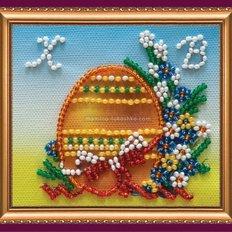 Набор для вышивки бисером магнит Пасхальный натюрморт-2