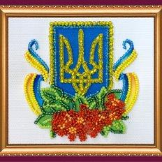Набор для вышивки бисером магнит Калиновый край