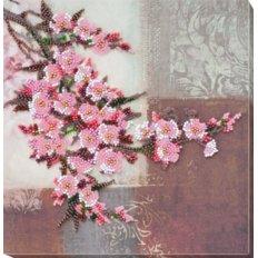 фото: картина, вышитая бисером, Ветка сакуры