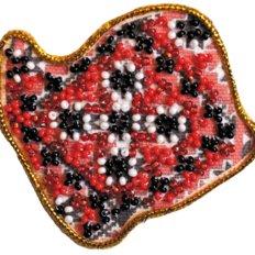 Набор для вышивки бисером магнит &quot,Карта Украины» Волынская область