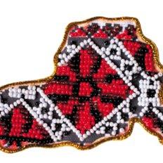 Набор для вышивки бисером магнит Карта Украины Херсонская область