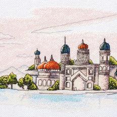 фото: картина для вышивки крестом, Красочные купола