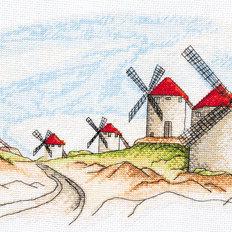 фото: картина для вышивки крестом, Ветряные мельницы