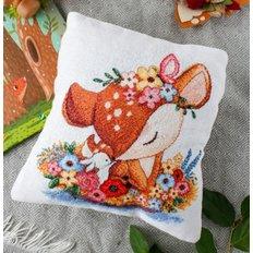 фото: подушка для вышивки крестом, Дружба