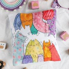 фото: подушка для вышивки крестом, Муркошки