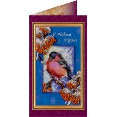 Набор для вышивки бисером открытка С Новым Годом-1