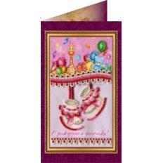 Набор для вышивки бисером открытка С рождением доченьки-1
