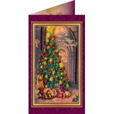 Набор для вышивки бисером открытка Счастливого Рождества-1