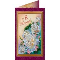Набор для вышивки бисером открытка 8 Марта-1