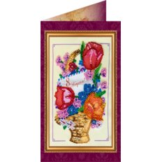 Набор для вышивки бисером открытка 8 Марта-4
