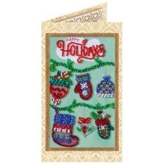 фото: открытка для вышивки бисером Весёлый Новый год