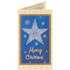 фото: открытка для вышивки бисером Звездочка