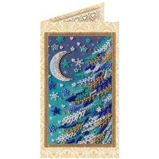 фото: открытка для вышивки бисером Снежная ночь