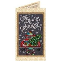 фото: открытка для вышивки бисером Снежный праздник