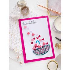 фото: открытка 3D для вышивки бисером Дождь любви
