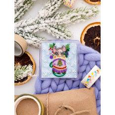 фото: магнит для вышивки бисером с акриловой рамкой Лучший подарок