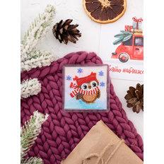 фото: магнит для вышивки бисером с акриловой рамкой Зимняя прогулка