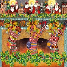 Схема для вышивки бисером Рождественские сувениры