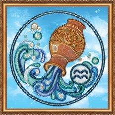 Набор для вышивки бисером Знак зодиака &quot,Водолей&quot,